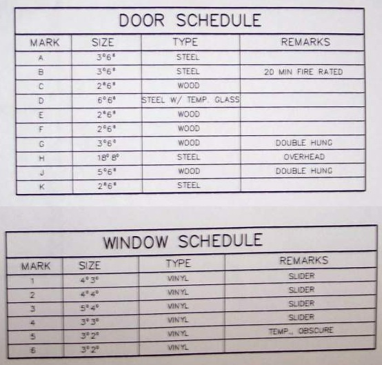 door schedule door and window schedule sc 1 st revit city. Black Bedroom Furniture Sets. Home Design Ideas